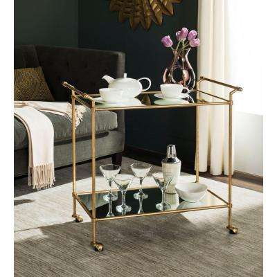 Felicity Gold Serving Cart