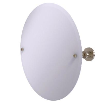 22 in. x 22 in. Astor Place Frameless Round Tilt Mirror with Beveled Edge in Antique Pewter