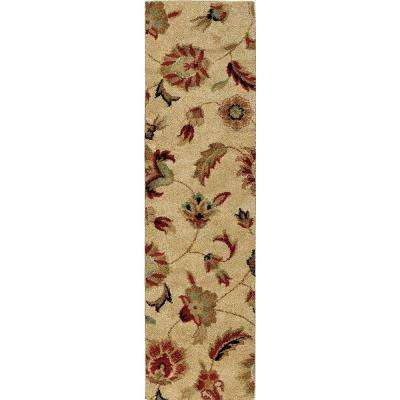 Bloom Beige 2 ft. x 8 ft. Indoor Runner Rug