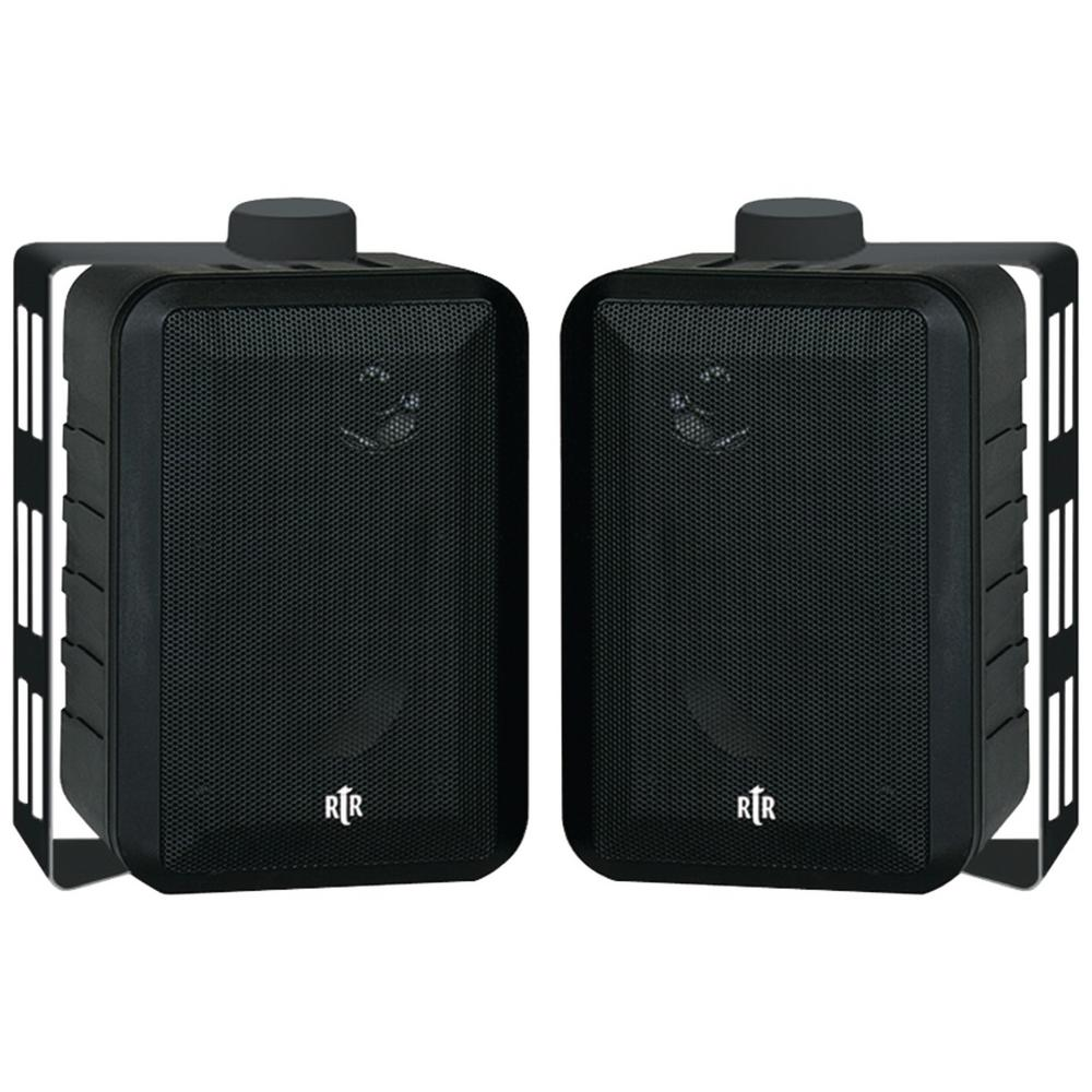 100-Watt 3-Way 4 in. RtR Series Indoor/Outdoor Speakers in Black