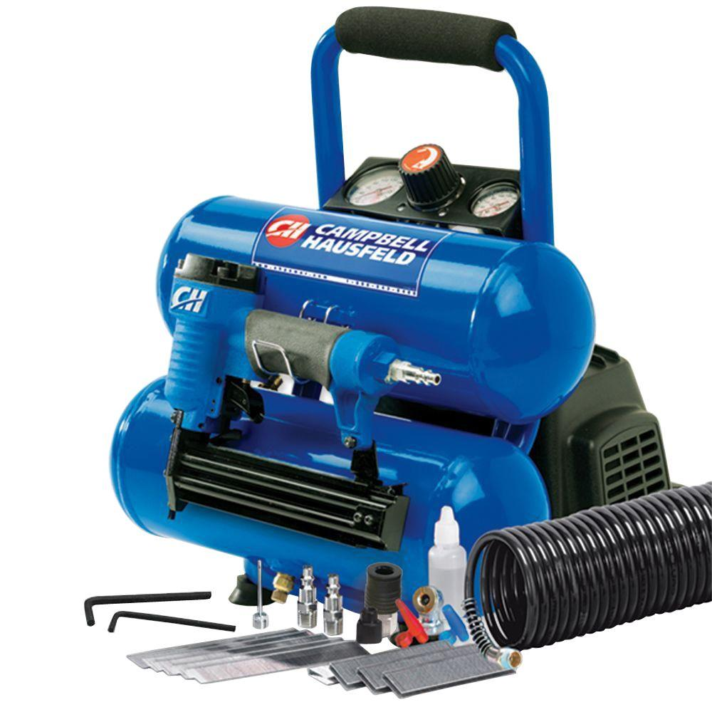 Campbell Hausfeld 2 gal. Air Compressor with Nailer and Accessory Kit