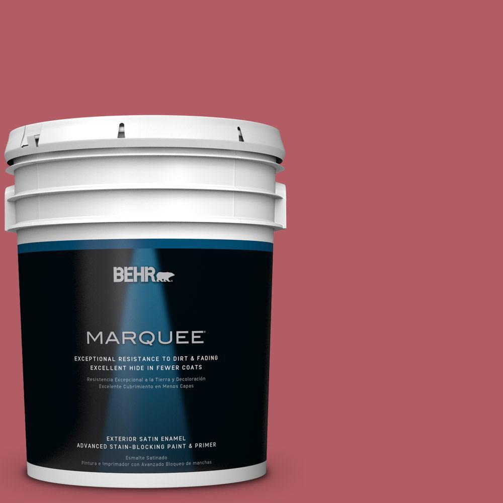 BEHR MARQUEE 5-gal. #BIC-33 Cinnamon Candle Satin Enamel Exterior Paint