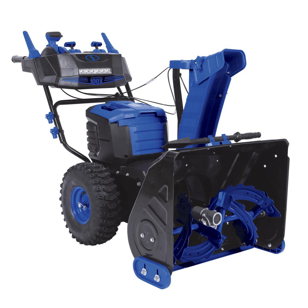 Snow Joe 100-Volt iONPRO 24 in. Cordless Dual-Stage Snow Blower with 2 x 5.0 Ah Batteries and Charger