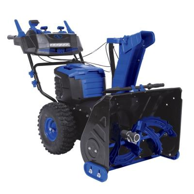 100-Volt iONPRO 24 in. Cordless Dual-Stage Snow Blower with 2 x 5.0 Ah Batteries and Charger