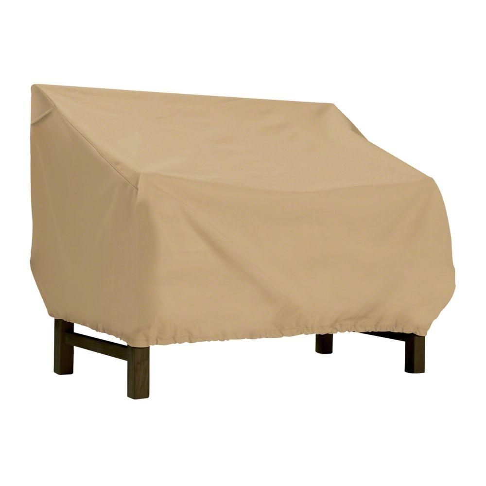 Terrazzo Small Patio Bench Seat Cover - All-Weather Protection Outdoor Furniture