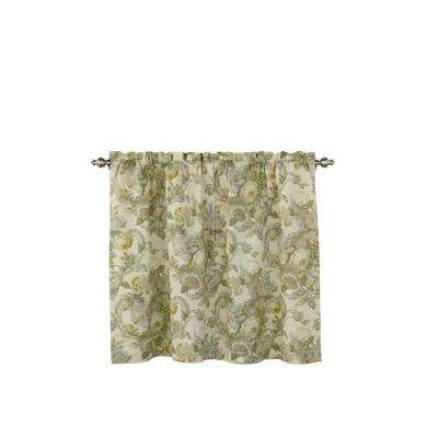Spring Bling Window Curtain Tier Pair in Platinum - 52 in. W x 36 in. L