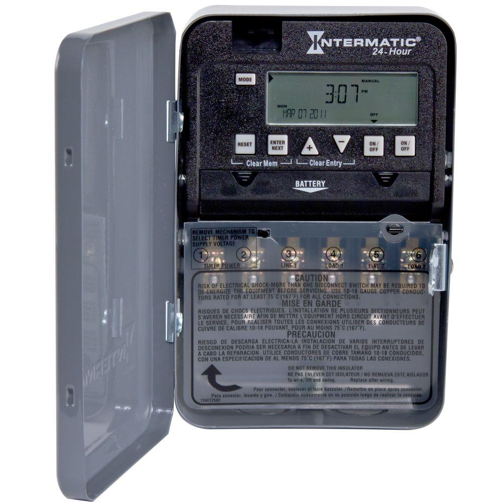 Intermatic 30 Amp 24 Hour Spst 2 Circuit Electronic Time Switch Digitalelectroniccircuits1jpg