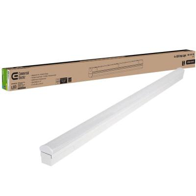 4 ft. 40-Watt Direct Wire Intergrated LED White Strip Light Fixture 3600 Lumens 4000K Bright White