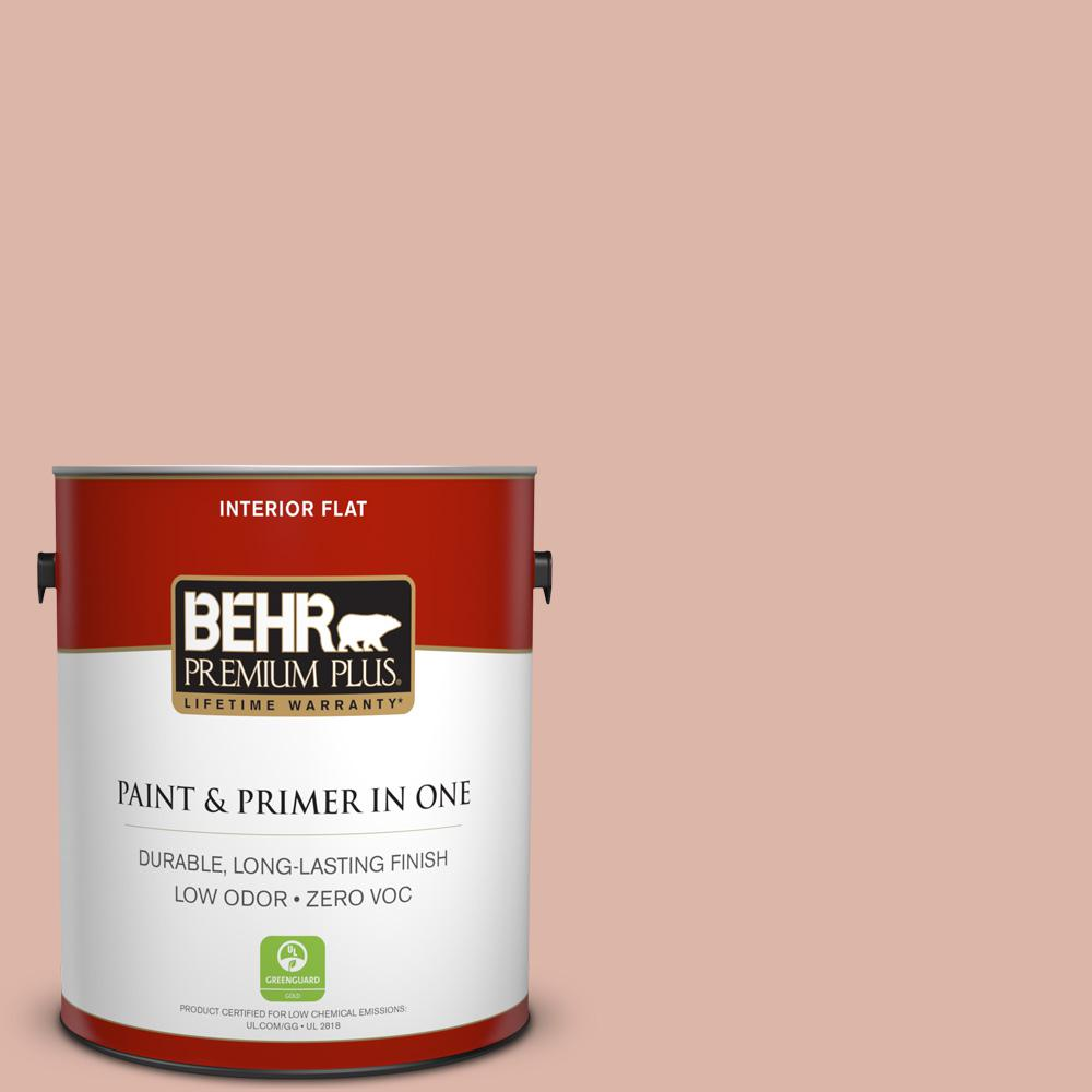 BEHR Premium Plus 1-gal. #220E-3 Melted Ice Cream Zero VOC Flat Interior Paint