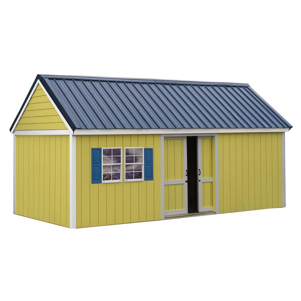 Best Barns Brookhaven 10 Ft. X 20 Ft. Storage Shed Kit Bhaven1020   The  Home Depot