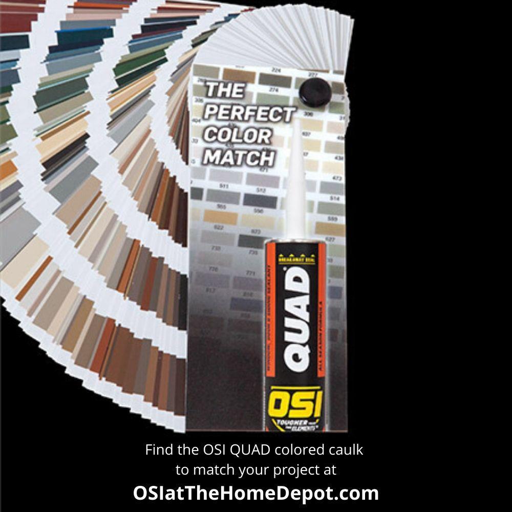 Osi Quad Advanced Formula 10 Fl Oz Clay 301 Window Door And Siding Sealant 12 Pack 1637204 The Home Depot