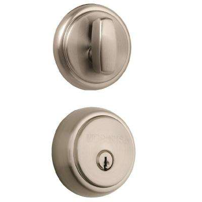 Amberhall Single Cylinder Satin Nickel Push Pull Rotate Deadbolt
