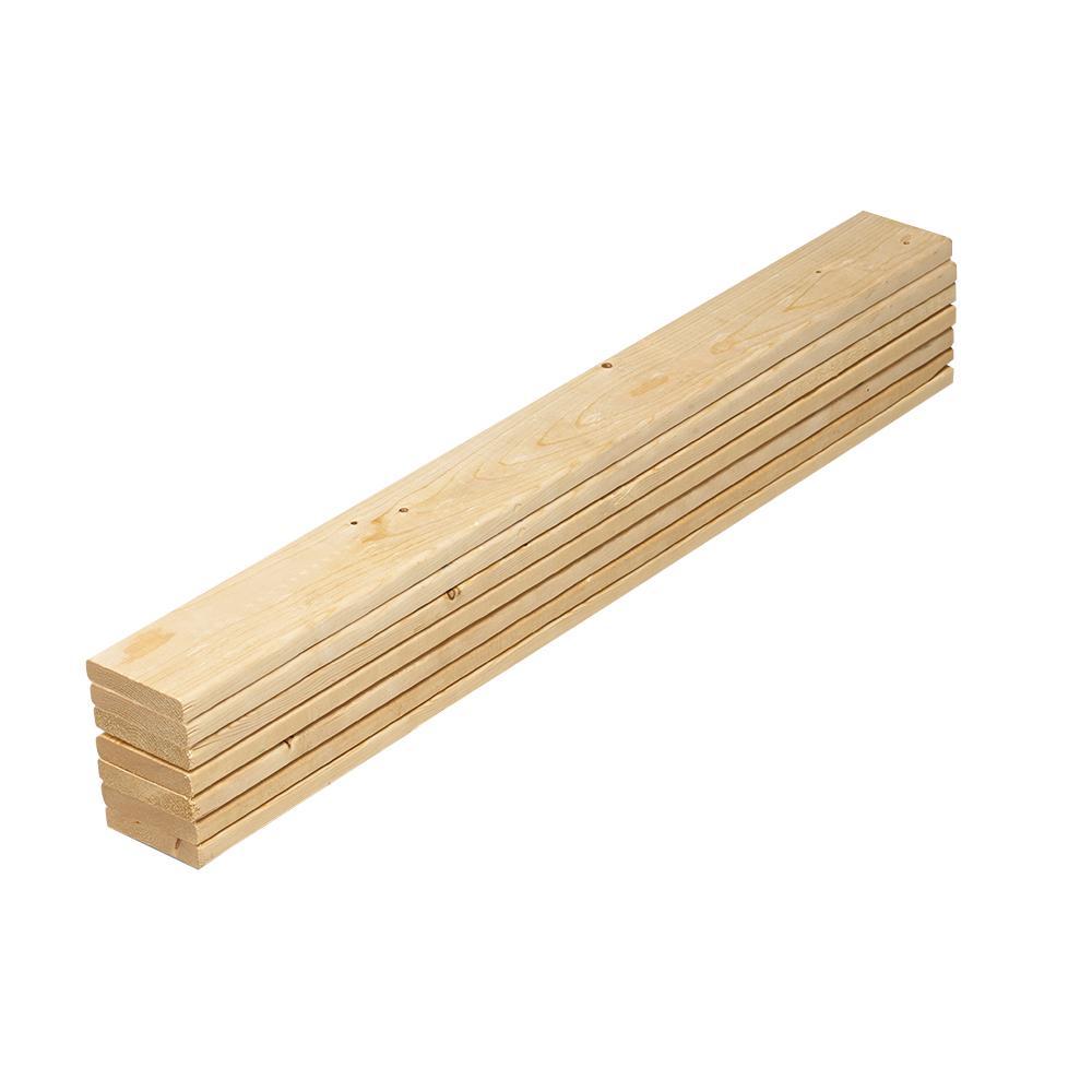 1 in. x 4 in. x 4.5 ft. Pine Full Bed Slat Board (7-Pack)
