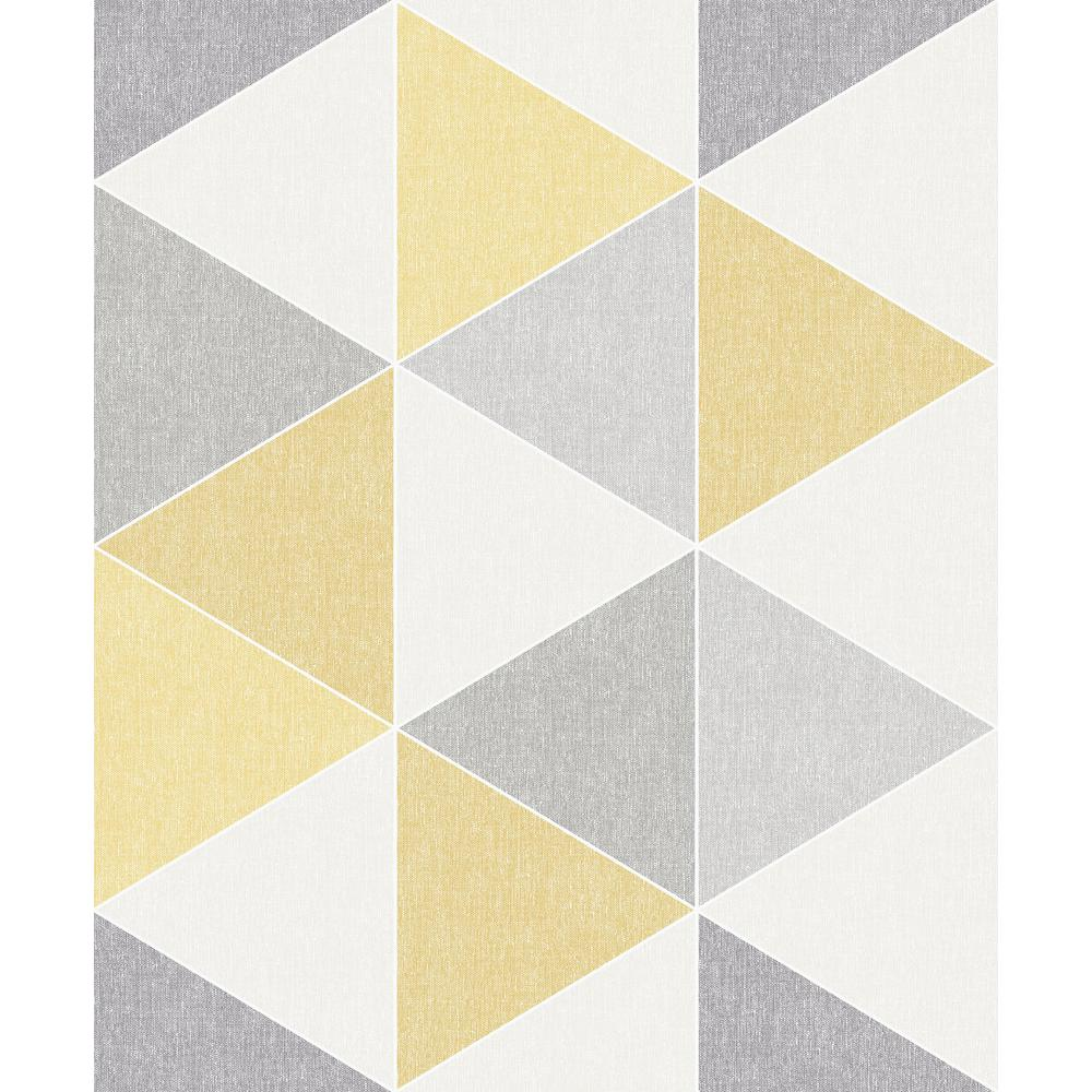 Arthouse Scandi Triangle Yellow Wallpaper 908206 The Home Depot
