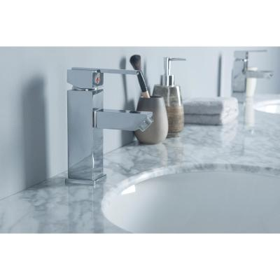 Cadence 72 in. W x 22 in. D Vanity in Grey with Marble Vanity Top in Carrara White with White Basins