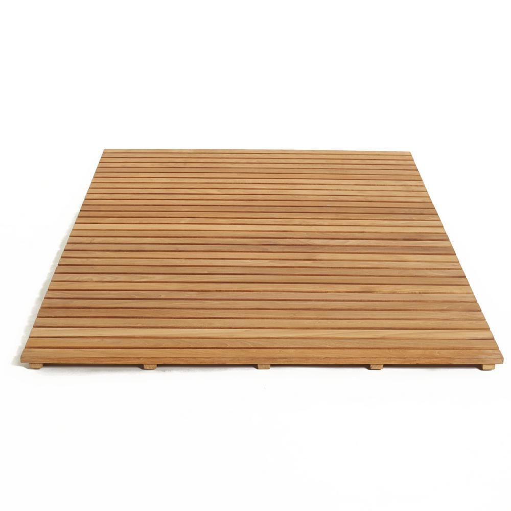 ARB Teak and Specialties 60 in. W x 40 in. D Bathroom and Shower Mat ...