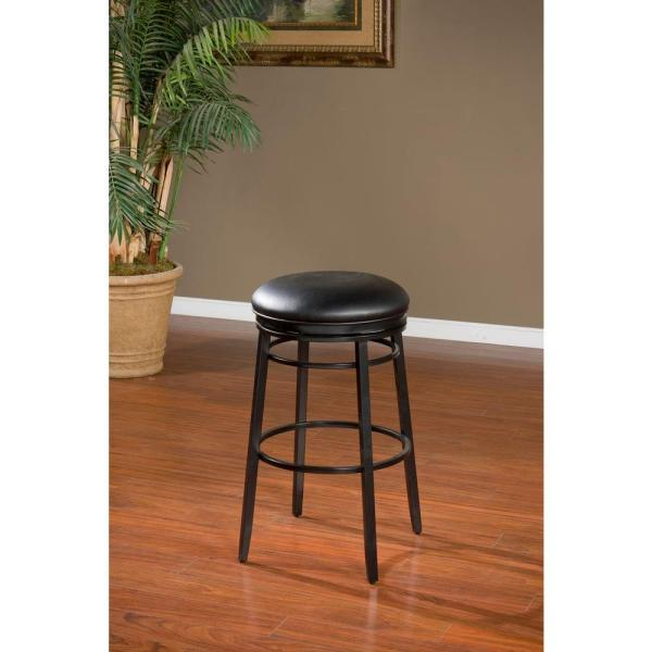 American Heritage Silvano 30 in. Black Cushioned Bar Stool 130923BLK