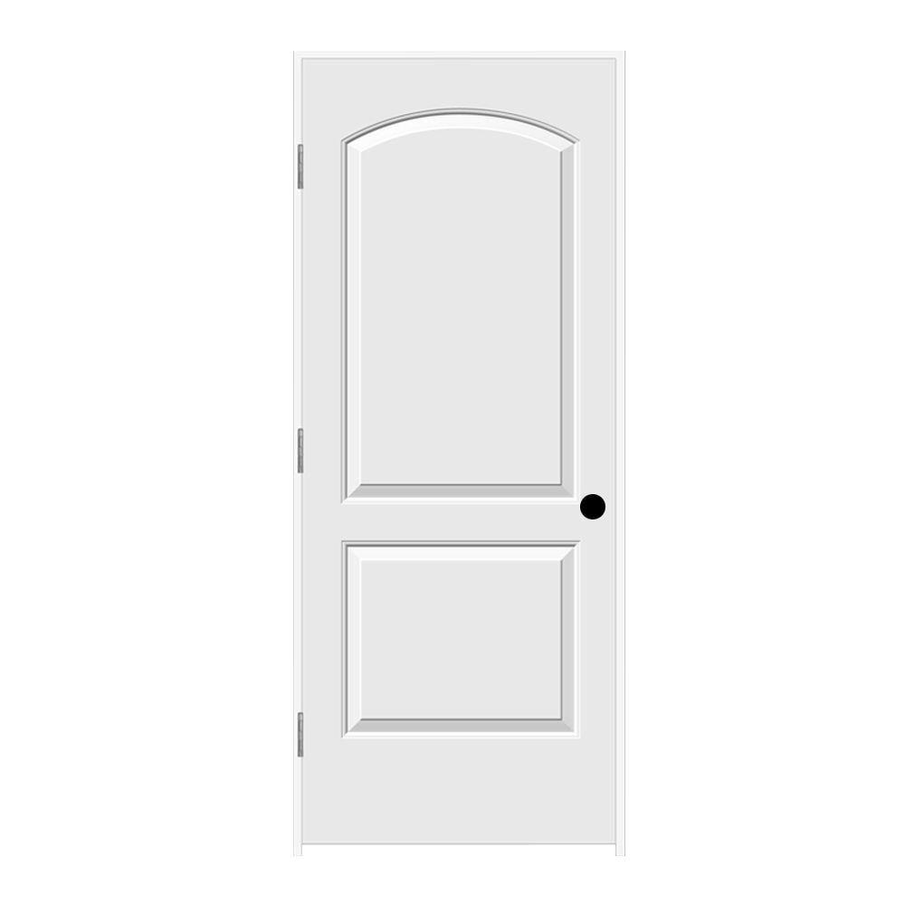 JELD-WEN 32 in. x 80 in. Continental Primed Right-Hand Smooth Solid Core Molded Composite MDF Single Prehung Interior Door