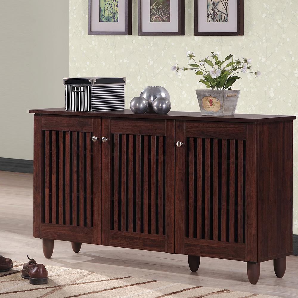 Fernanda Medium Brown Wood Storage Cabinet