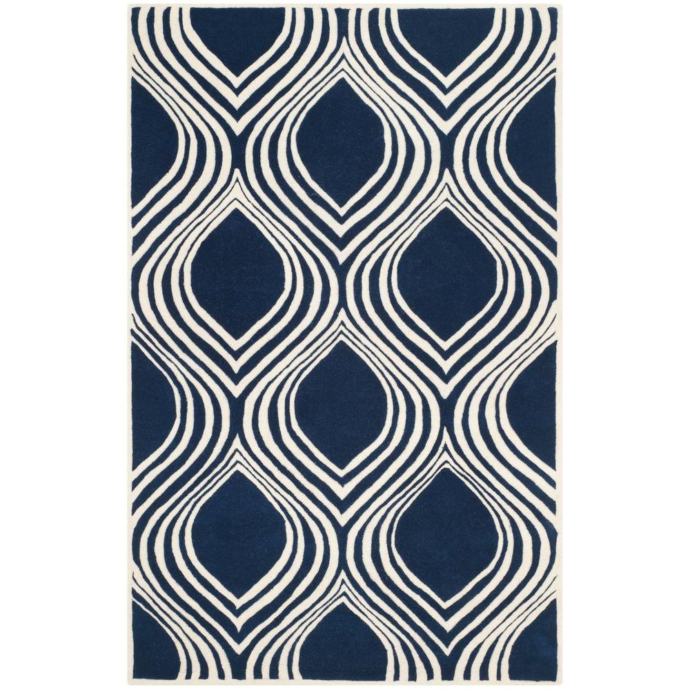 Chatham Dark Blue/Ivory 8 ft. x 10 ft. Area Rug