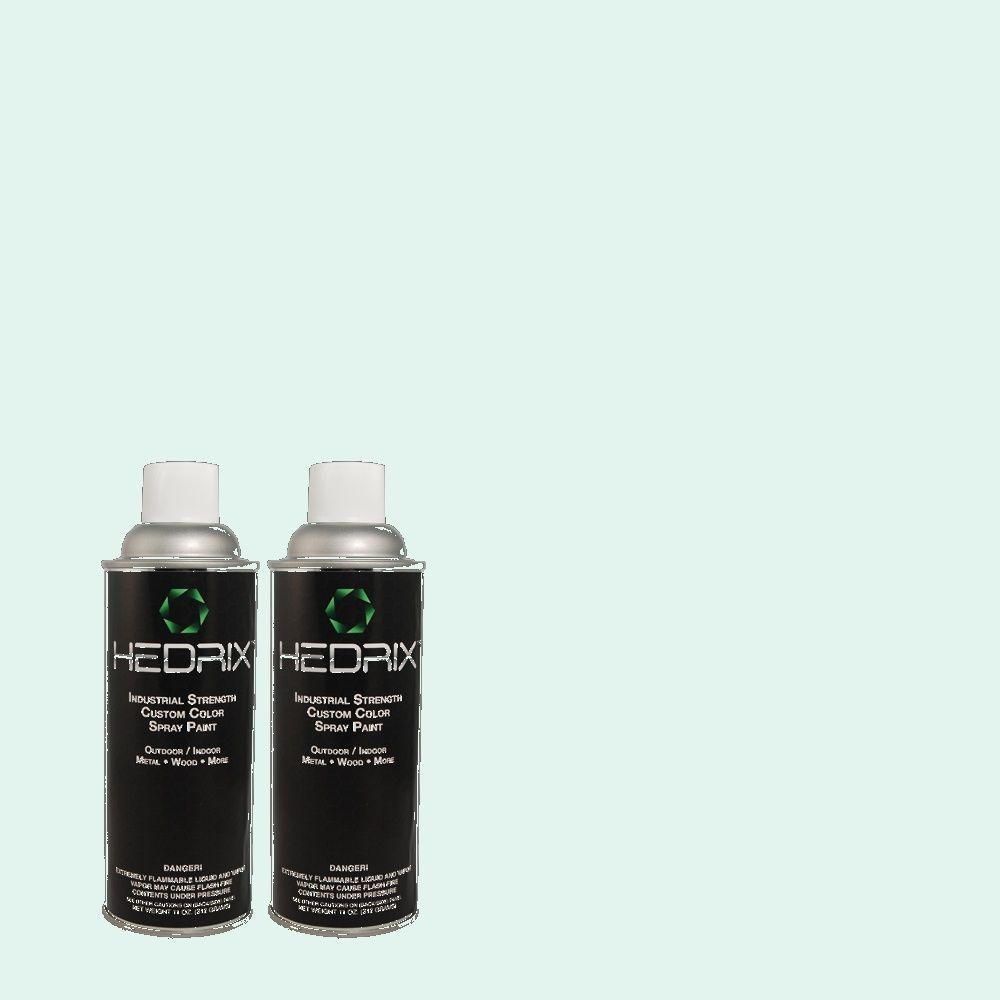 Hedrix 11 oz. Match of 500C-2 Aqua Pura Semi-Gloss Custom Spray Paint (2-Pack)