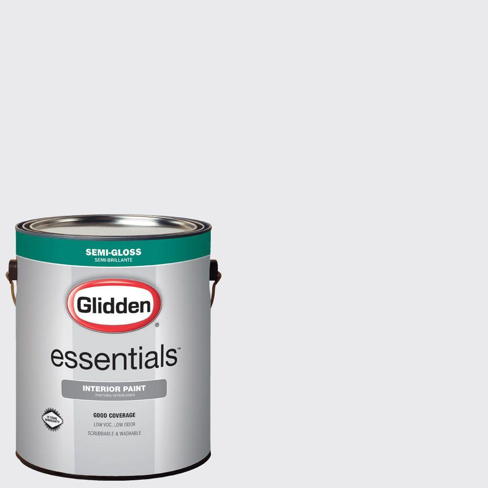 Glidden Essentials 1 Gal. #HDGCN35 Nova White Semi Gloss Interior Paint