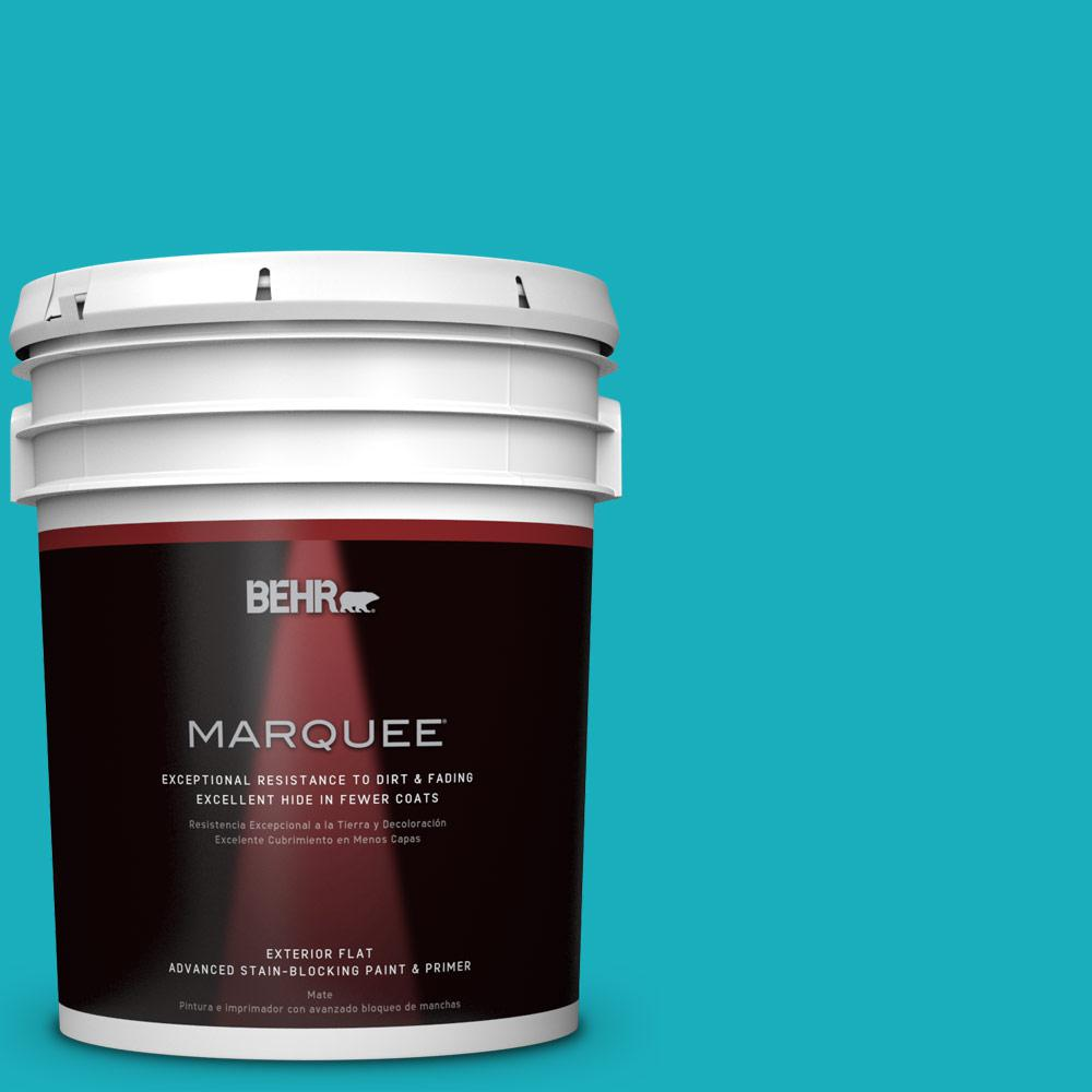 BEHR MARQUEE 5-gal. #P470-5 Placid Sea Flat Exterior Paint