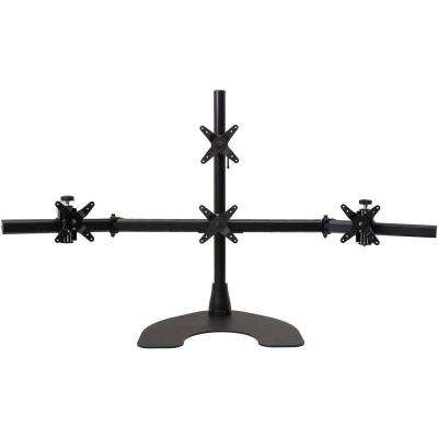 Quad Desk Stand 1 x 3 with 28 in. Pole