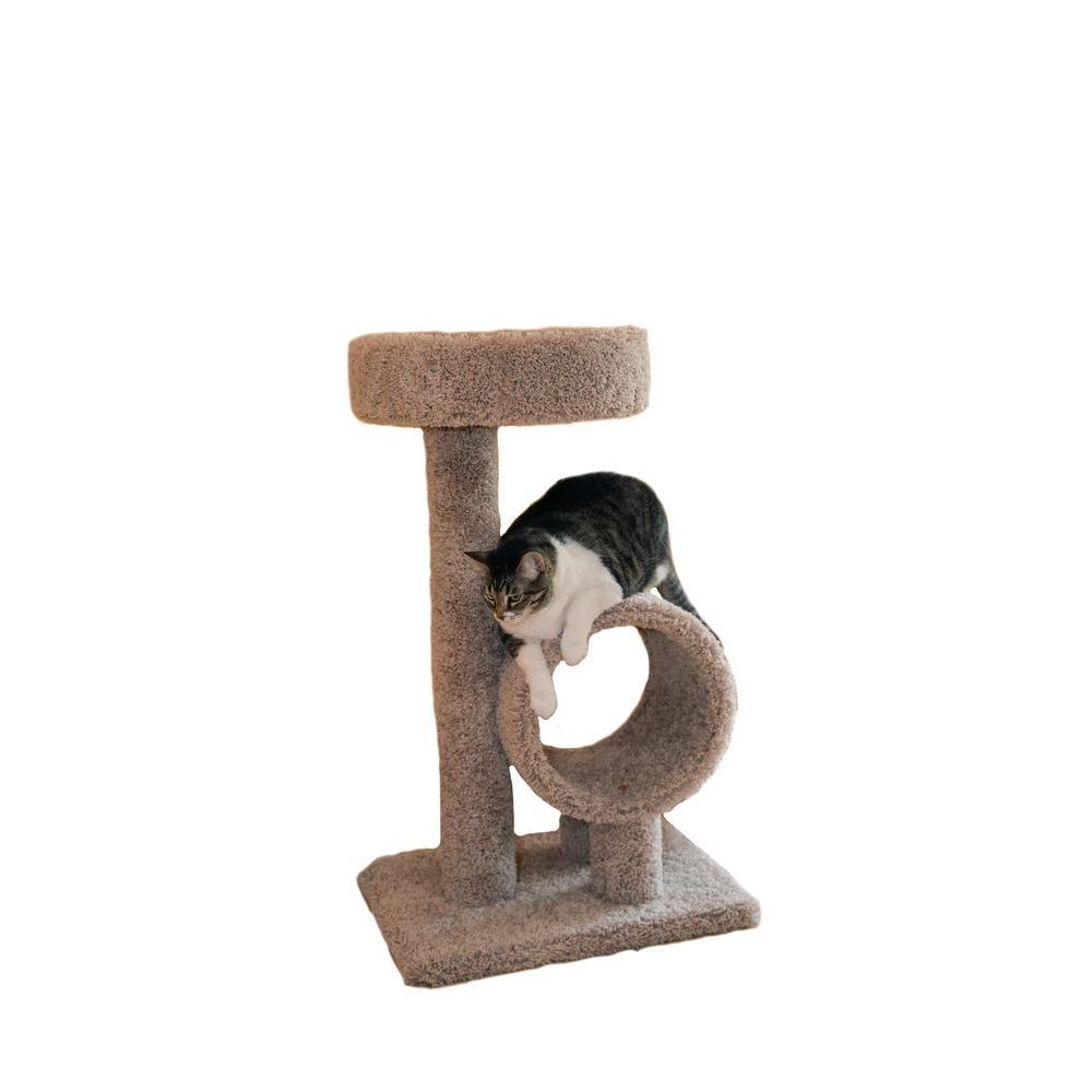 35 in. Beige Kitty Loft Cat Tower