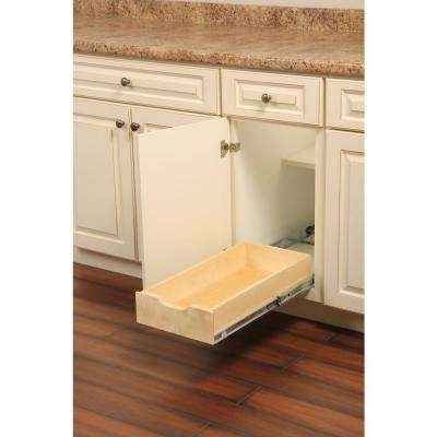 5 in. H x 12 in. W 22 in. D Soft-Close Wood Drawer Box Pull-Out Cabinet Organizer