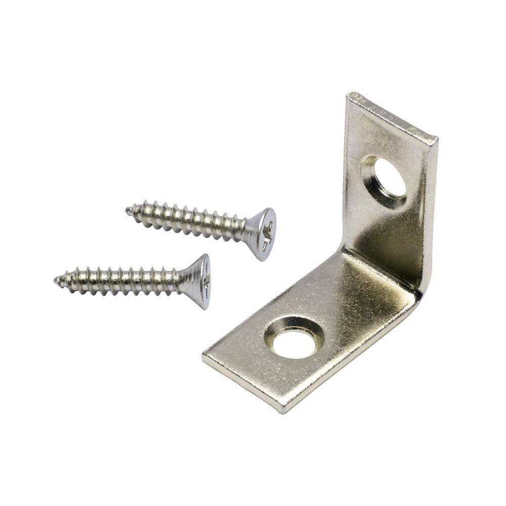 1 in. Stainless Steel Corner Brace (4-Pack)
