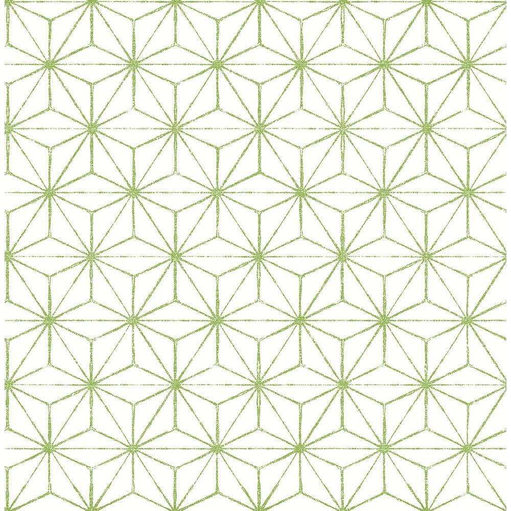 green geometric wallpaper  A-Street 56.4 sq. ft. Orion Green Geometric Wallpaper-2764-24312 ...