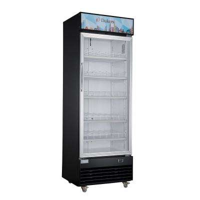 15.1 cu. ft. Commercial Single Swing Door Glass Merchandiser Refrigerator in Black