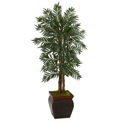 5 ft. High Indoor Parlor Palm Artificial Tree in Decorative Planter