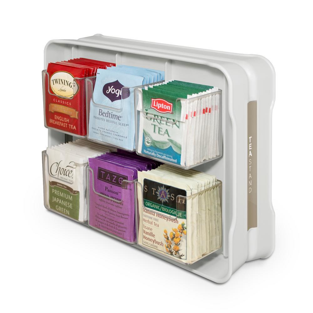 youcopia teastand 100 tea bag organizer