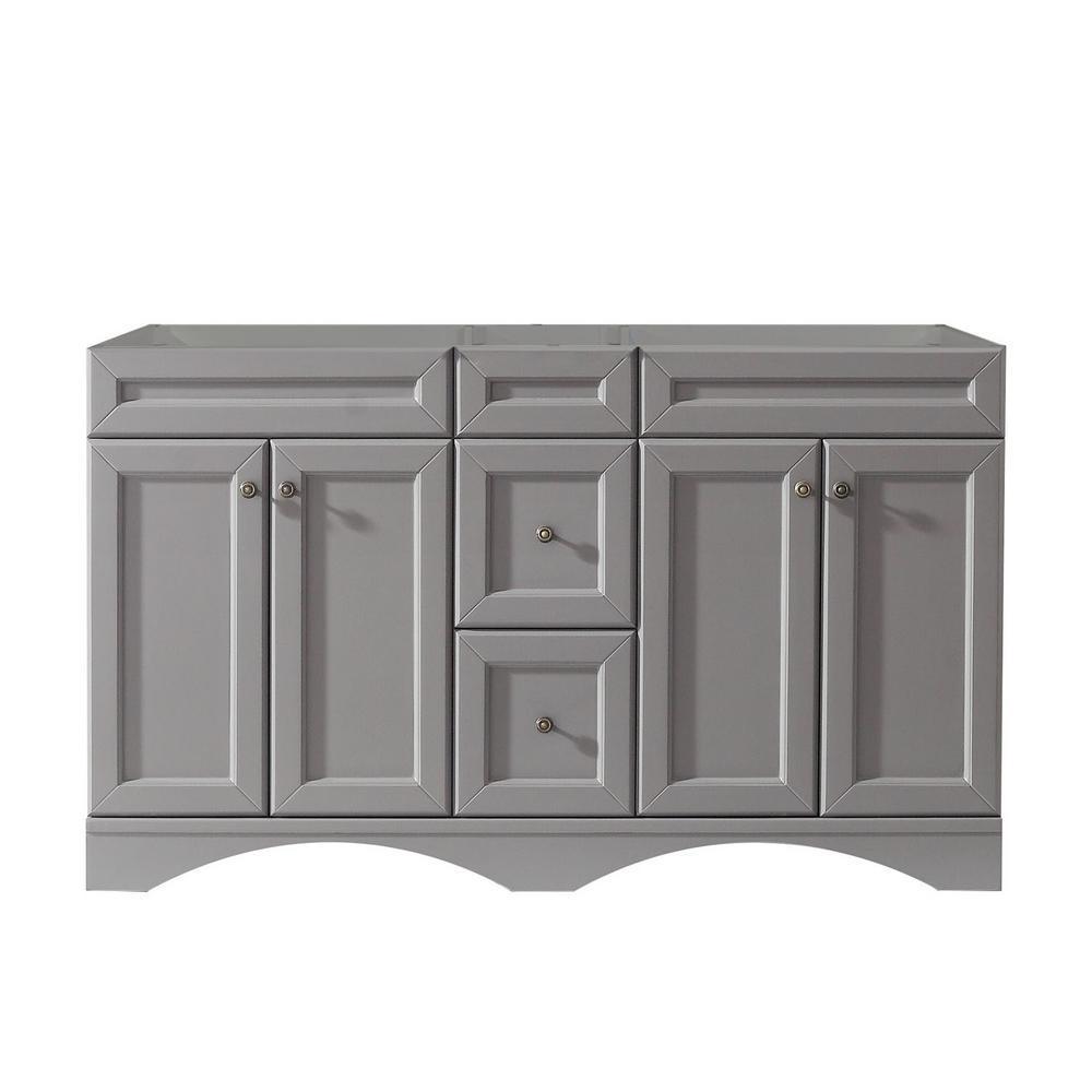 Talisa 60 in. W Bath Vanity Cabinet Only in Gray