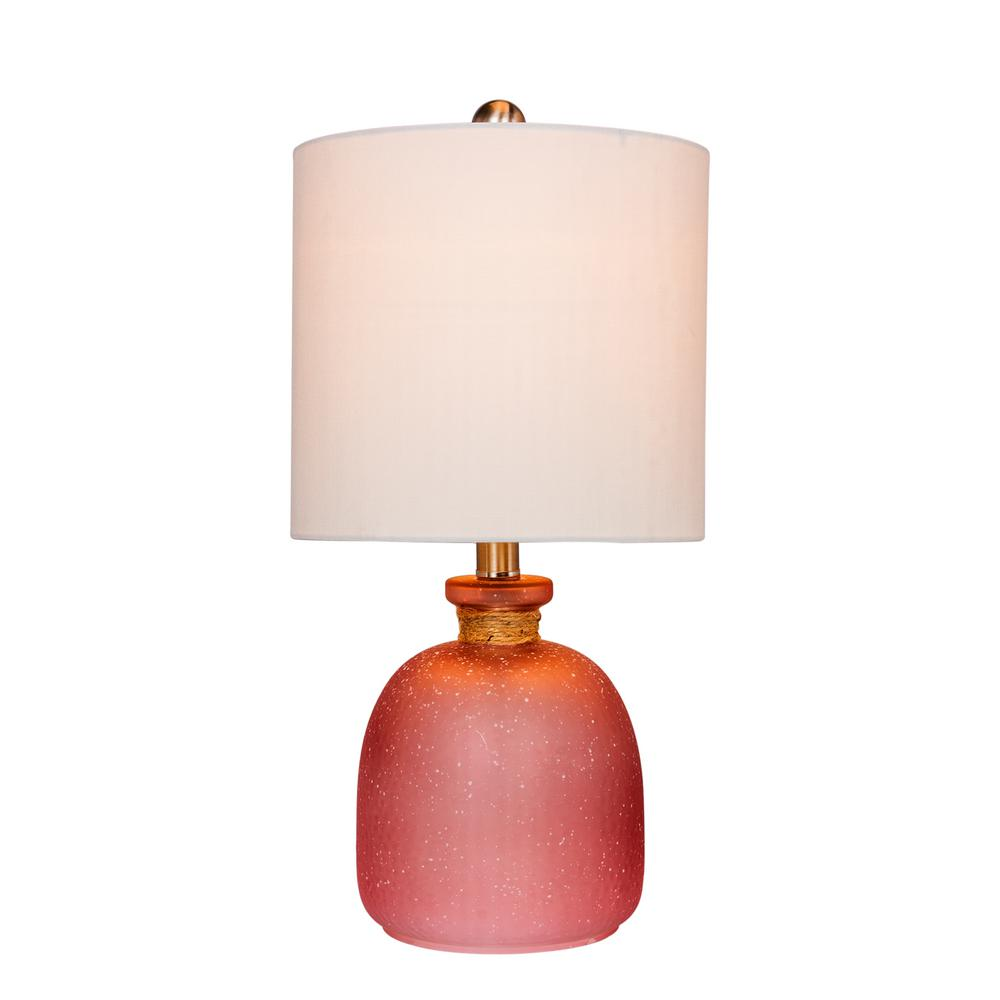 Fangio Lighting 19 5 In Island Bottle Glass Table Lamp In Frosted