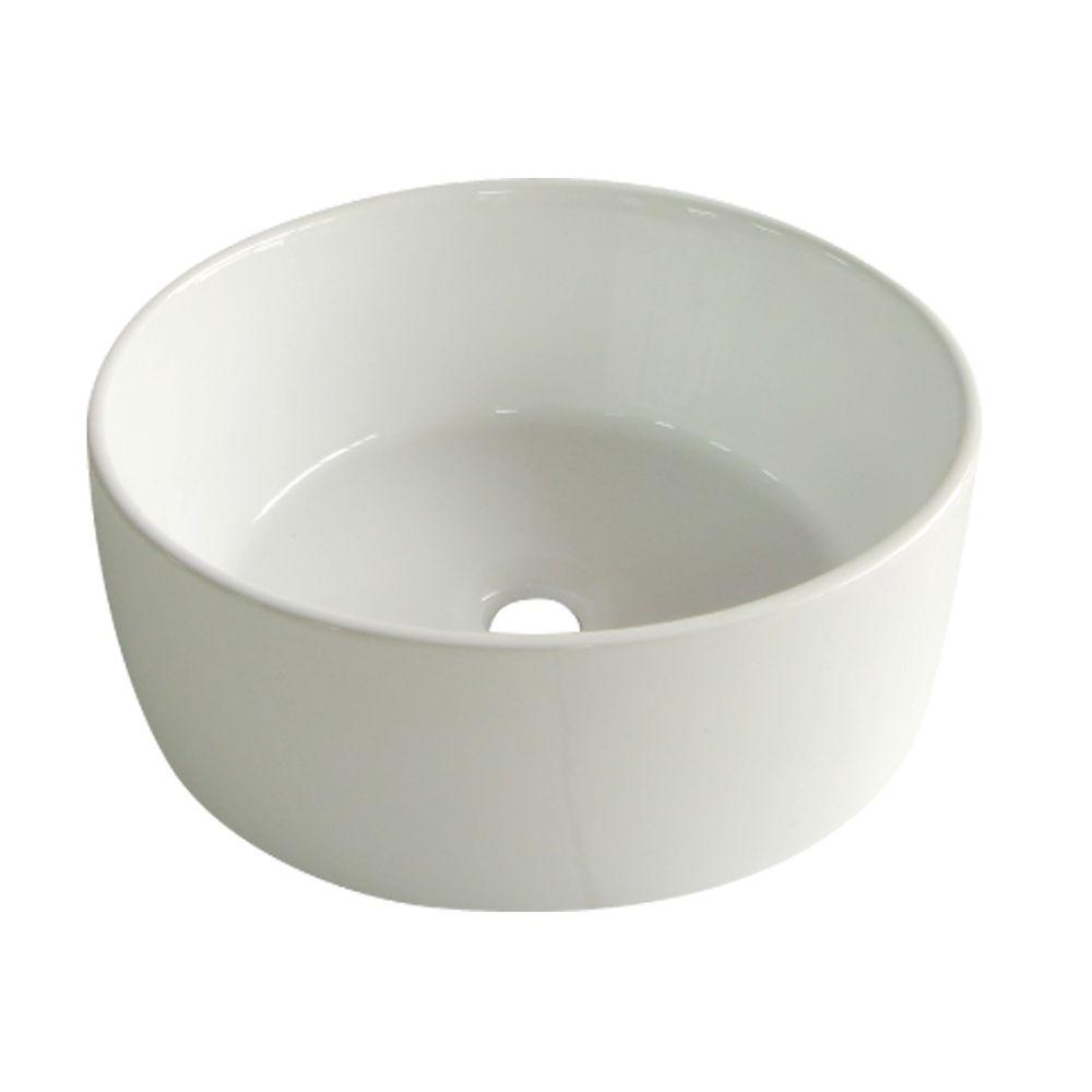 Bon Kingston Brass Round Vitreous China Vessel Sink In White