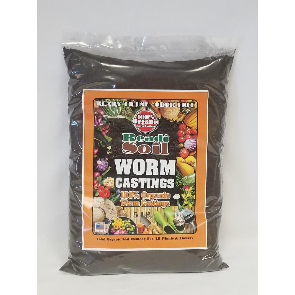 5lb 100% Organic Worm Casting Soil
