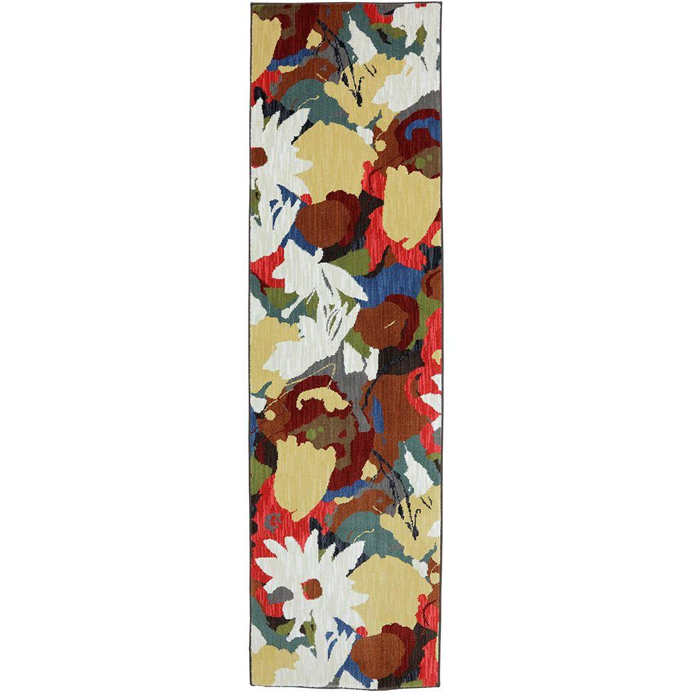 Karastan Summer Shake Creme Brulee 2 ft. 4 in. x 8 ft. 3 in. Runner