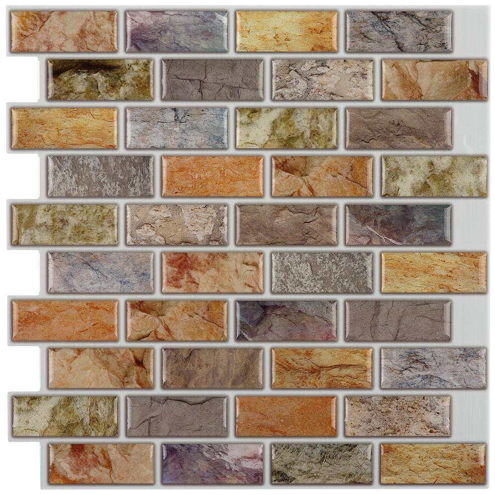 Instant Mosaic 12 In X L And Stick Decorative Wall Tile