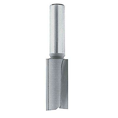 1/4 in. x 1 in. Carbide-Tipped, Straight 2 Flute Router Bit with 1/4 in. Shank