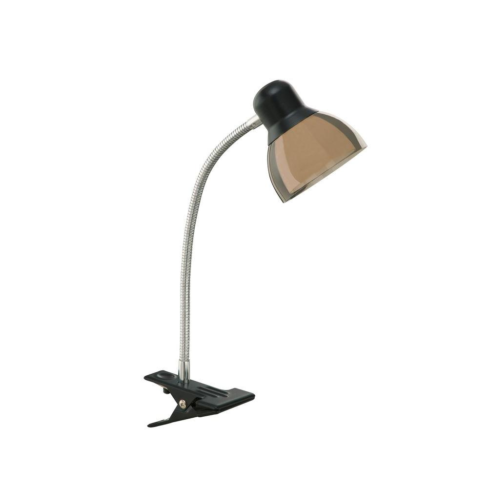 14 in. Black Integrated LED Clip Lamp