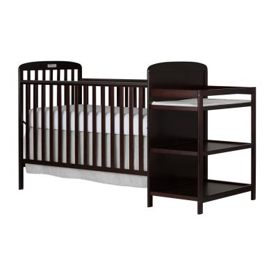 Anna 4-in-1 Espresso Full Size Crib and Changing Table Combo