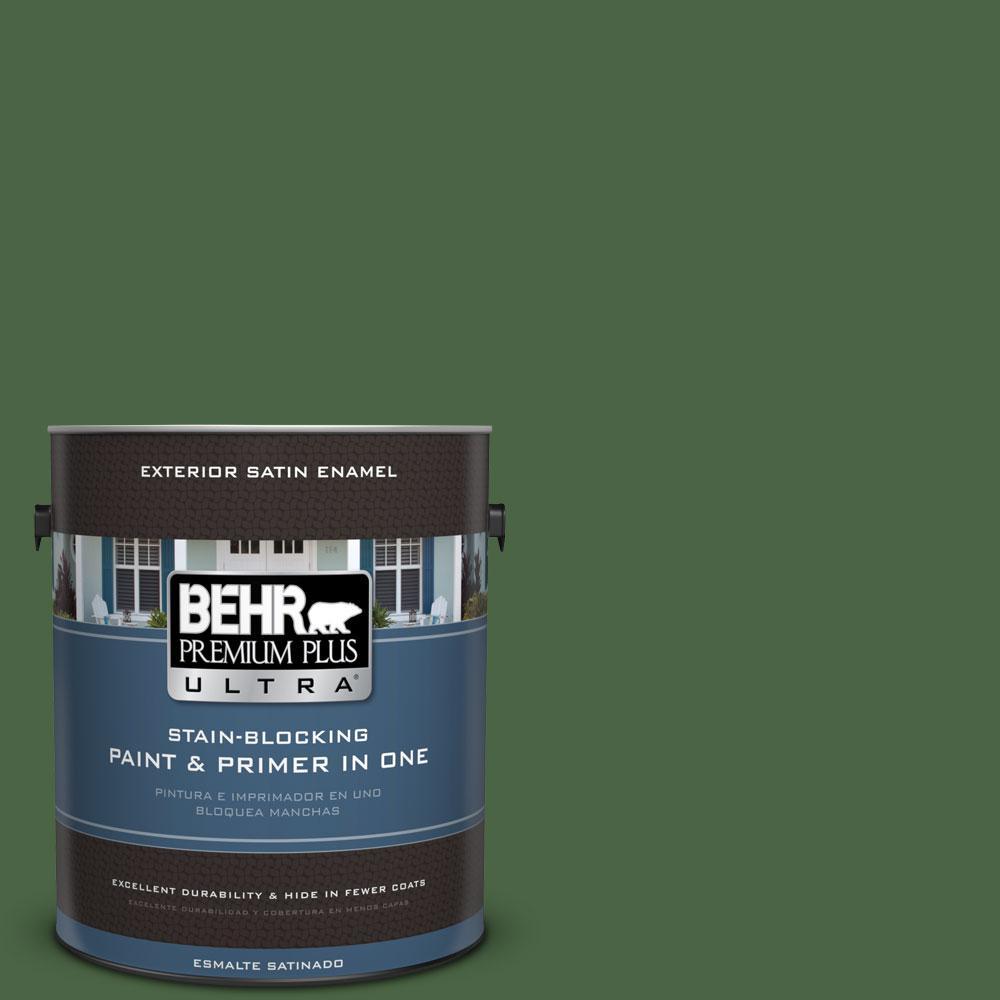 BEHR Premium Plus Ultra 1-gal. #S400-7 Deep Viridian Satin Enamel Exterior Paint