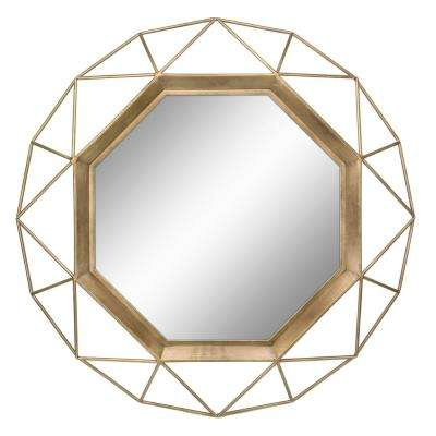 Geometric Antique Gold Decorative Wall Mirror