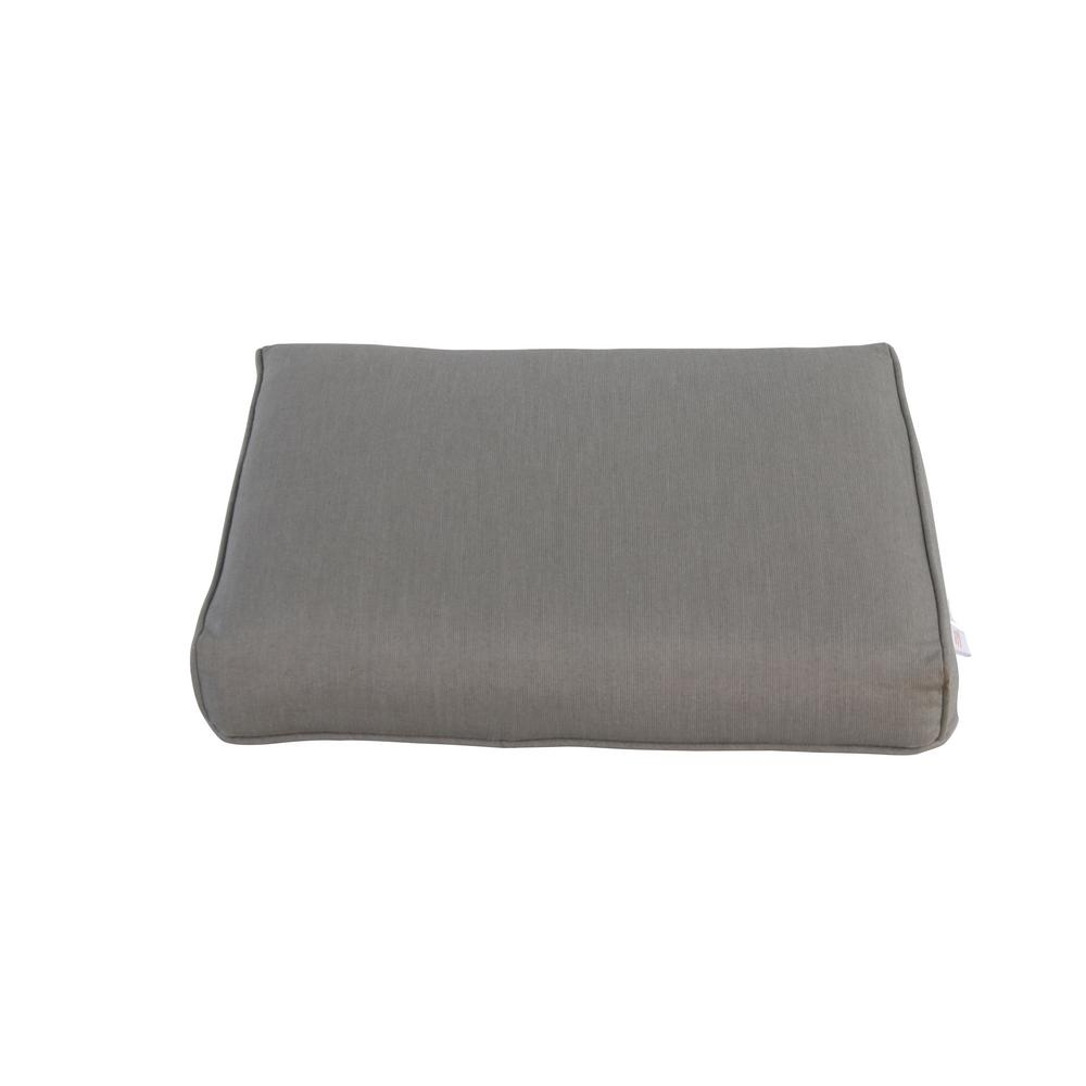 Broadview Sunbrella Spectrum Dove Replacement Outdoor Ottoman Cushion