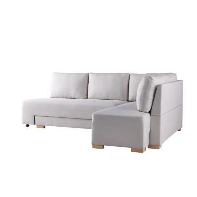 Angela 70.8 in. Cream Fabric 4-Seater Twin Sleeper Sectional Sofa Bed with Removable Cushions