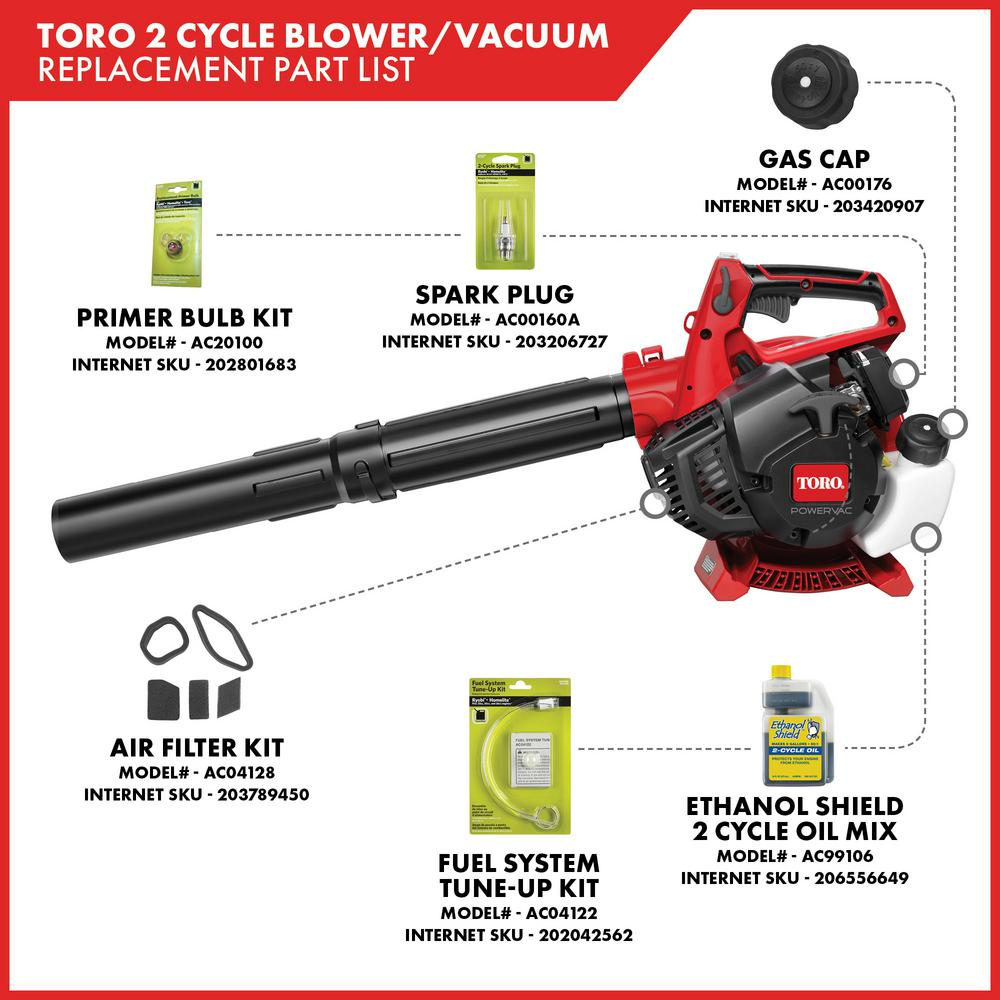Toro 150 Mph 460 Cfm 25 4cc 2 Cycle Handheld Gas Leaf Blower Vacuum 51988 The Home Depot