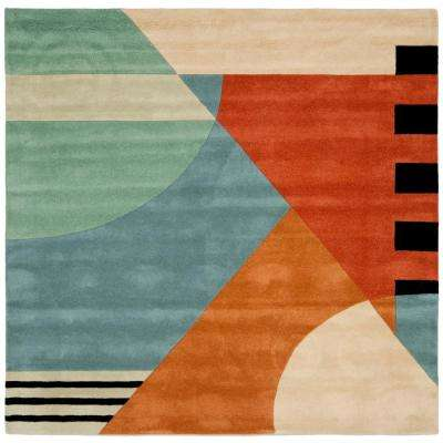 Rodeo Drive Gold 8 ft. x 8 ft. Square Area Rug